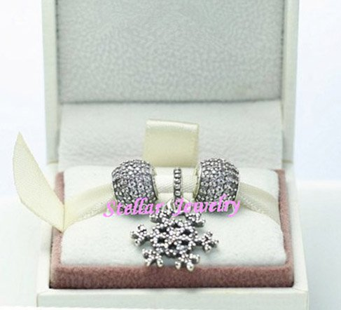 925 Sterling Silver WINTER KISS Charms Gift Set - fits European Beads Bracelets