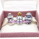 925 Sterling Silver UNDER THE CHRISTMAS TREE Charms Gift Set - fits European Beads Bracelets