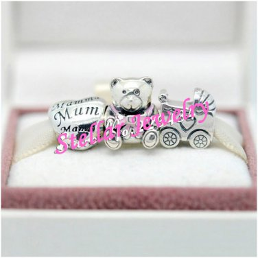 925 Sterling Silver IT'S A GIRL Charms Gift Set - fits Biagi/Pandora/Troll/All European Bracelets