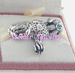 925 Sterling Silver OCEAN WONDERS Charms Gift Set - fits European Beads Bracelets