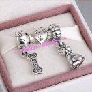 925 Sterling Silver A DOG'S LIFE Charms Gift Set - fits Biagi/Pandora/Troll/All European Bracelets