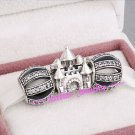 925 Sterling Silver CASTLE IN THE CLOUDS Charms Gift Set - fits European Bracelets