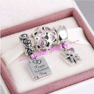 925 Sterling Silver MORE THAN WORDS Charms Gift Set - fits European Bracelets