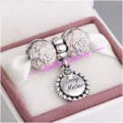 925 Sterling Silver MOTHER'S DAY LOVING MOTHER Charms Gift Set - fits European Bracelets