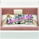 925 Sterling Silver CHRISTMAS MORNING Charms Gift Set - fits European Bracelets