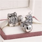 925 Sterling Silver SPARKLING CHRISTMAS Charms Gift Set - fits European Bracelets