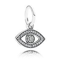 925 Sterling Silver Symbol of Insight Dangle Necklace Pendant Charm