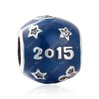 925 Sterling Silver Mickey & Stars Bead Charm
