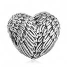 925 Sterling Silver Angelic Feathers Charm Bead