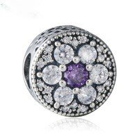 925 Sterling Silver Forget Me Not Charm Bead