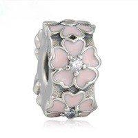 925 Sterling Silver Pink Primrose Clip Charm