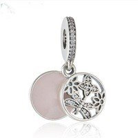 925 Sterling Silver Springtime Dangle Pendant Charm