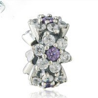 925 Sterling Silver Forget Me Not Spacer Bead