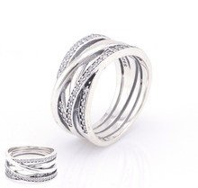 925 Sterling Silver Entwining Silver Ring Band