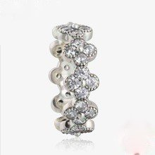 925 Sterling Silver Oriental Blossom Ring Band