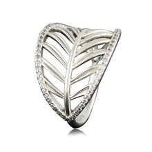 925 Sterling Silver Tropical Palm Ring Band