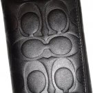 Coach Mens Signature Embossed Leather Trifold Wallet Black 74539