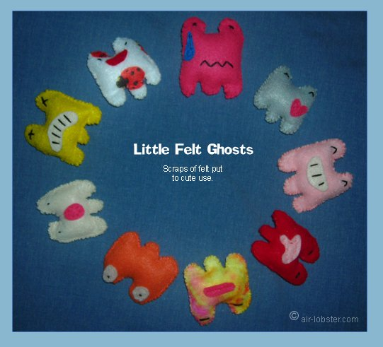Mini Felt Ghosts I