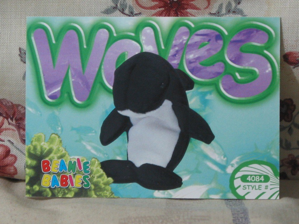 Beanie Babies Card 2nd Edition S3 1999 Waves
