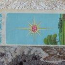 VINTAGE ROAD MAP North, South Carolina AAA 1967