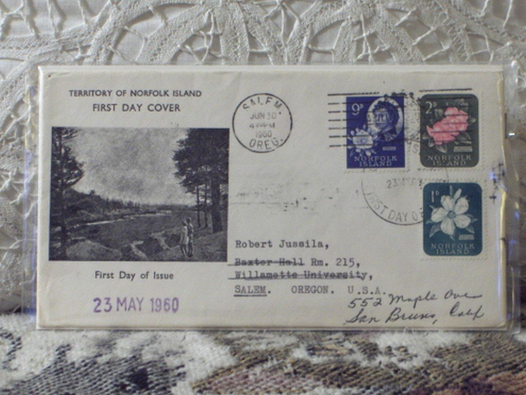 First Day Issue Cover Stamp Territory of Norfolk Island 1960