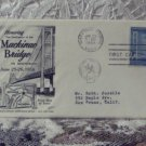 First Day Issue Cover Stamp Mackinac Bridge 1958 3c