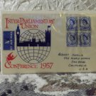 First Day Issue Cover-Stamp Inter Parliamentary Union 1957