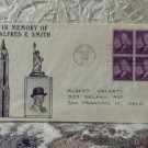 First Day Issue Cover Stamp Alfred E. Smith 1945 3c