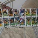 1989 L.A. Rams 7 Eleven/Frito Promo Football Card Sheet