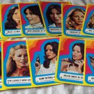 CHARLIES ANGELS 1977 Series 3 Sticker Insert Trading Card Set