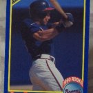 DAVE JUSTICE Score 1990  Rookie Baseball Trading Card No 650