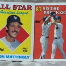 DON MATTINGLY 1988 Topps Baseball Trading Cards Set Of 4