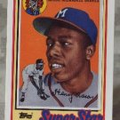 TOPPS And LJN Toys Henry Aaron 1989 Baseball Talk Collection Card