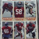 McDONALDS FLEER Gameday Uncut 1993 49ers Football 1 Promo Sheet C 3 of 3