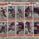 McDONALDS FLEER Gameday Uncut 1993 San Francisco 49ers Team 3 Promo Sheets