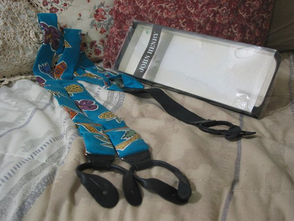 JOHN HENRY Suspenders Montego Bay Beach Theme Unused