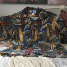 RJC Foral Hawaiian Shirt Size XL Hawaii Surf Boards and Palms