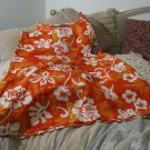 ROUNDY BAY Womens Beach Mu Mu Dress Orange Sz M
