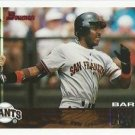 BARRY BONDS Bowman 1995 Baseball Trading Card No 376