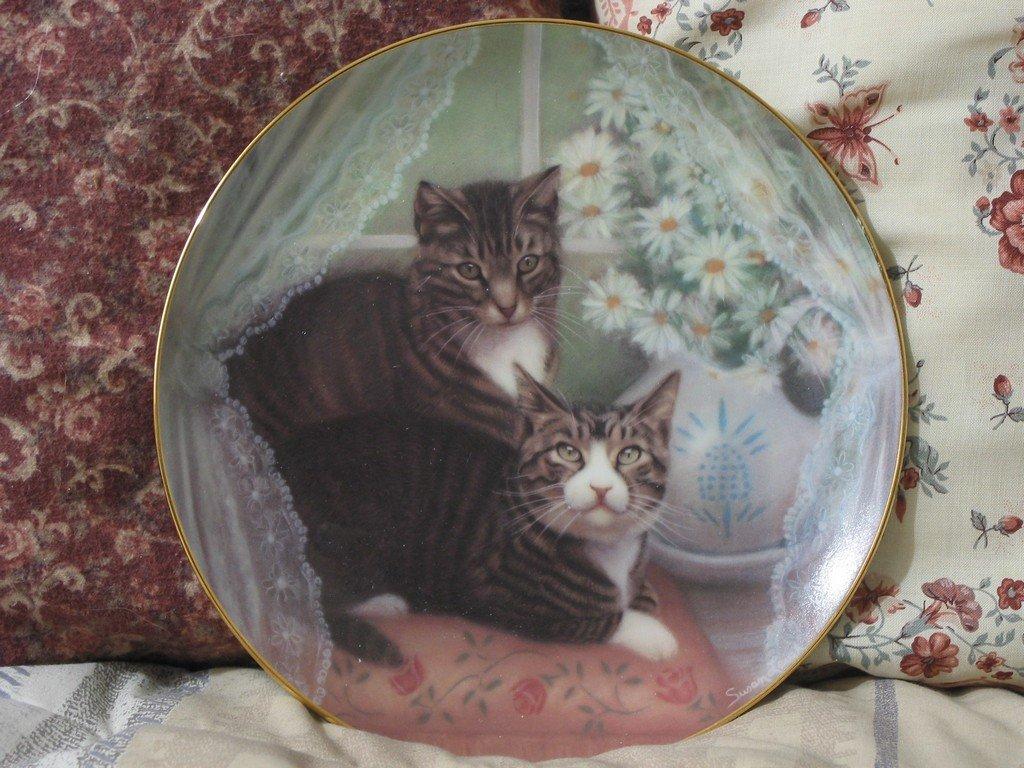 AMERICAN ARTISTS Romeo Juliet Cat Plate 1987