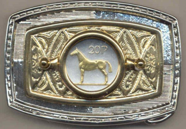 104-BB Belt Buckle-Irish 20 pence
