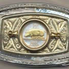 150-BB Belt Buckle-Irish ½ penny
