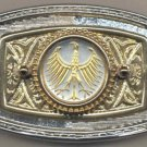 164-BB Belt Buckle-German 5 mark Silver coin
