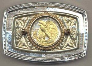 32BB Belt Buckle - U.S. Walking/Lib. half (reverse) (minted 1916-1947)