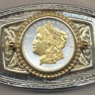 63BB Belt Buckle - U.S. .Morgan Silver dollar (minted 1878-1921)