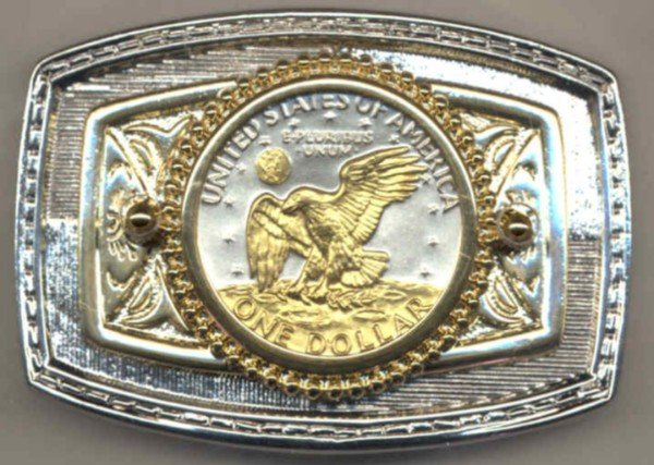 72BB Belt Buckle - Eisenhower dollar (reverse) (1971-1978)