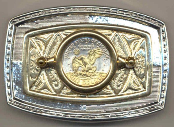 75BB Belt Buckle - S.B. Anthony dollar (reverse) (1979-1981 & 1999)