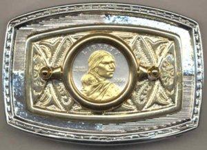 82BB Belt Buckle - Sacagawea dollar (2000 - date)