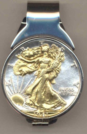 M30 Walking Liberty half dollar (1916 - 1947) Total size of clip 1-1/4