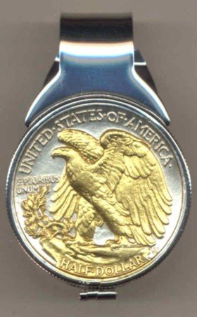 M32 U.S. Walking/Lib. half (reverse) (1916 - 1947) Total size of clip 1-1/4